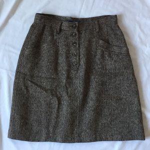 Beautiful Vintage LizWear A-line Wool Blend Skirt